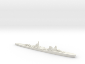 Duca d'Aosta light cruiser 1:3000 WW2 in White Natural Versatile Plastic