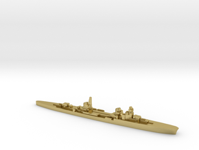 Duca d'Aosta light cruiser 1:3000 WW2 in Natural Brass