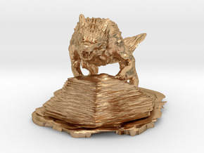 wolf in Natural Bronze