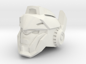 Doubletake Head for Last Knight Barricade in White Natural Versatile Plastic: Small