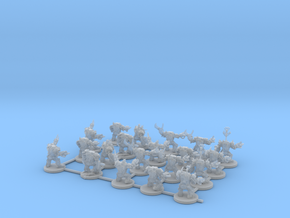 Armoured Space Orcs in Smooth Fine Detail Plastic