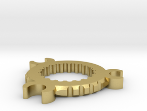 K4 Chassis crystal chamber fin in Natural Brass
