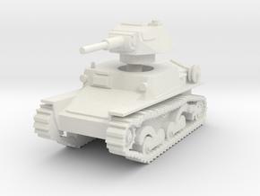 L6 40 Light tank 1/72 in White Natural Versatile Plastic