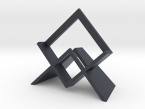 Infinity Knot - Single Face Stand in Black PA12