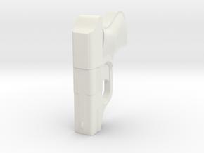 1:3 Miniature COP .357 Derringer Pistol in White Natural Versatile Plastic