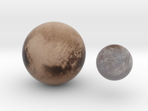 Pluto & Charon 1:80 million in Natural Full Color Sandstone