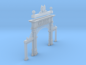 Denver Union Station Welcome/Mizpah Arch in Smooth Fine Detail Plastic