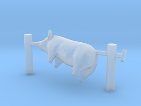 TT Scale Pig on a Spit in Smooth Fine Detail Plastic