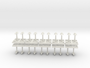Torpedo Starhawks - Concept B in White Natural Versatile Plastic