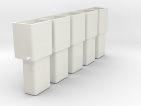 GM single connector housing , male, x5 in White Natural Versatile Plastic