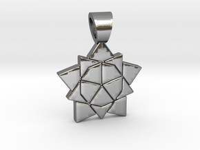 Golden ratio tiling - Star [pendant] in Polished Silver