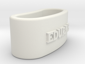 EDURNE 3D Napkin Ring with lauburu in White Natural Versatile Plastic