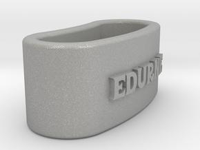 EDURNE 3D Napkin Ring with lauburu in Aluminum