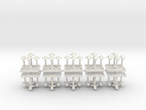 Assault Boats Sharks - Concept A  in White Natural Versatile Plastic