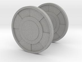 Round Cufflink in Aluminum