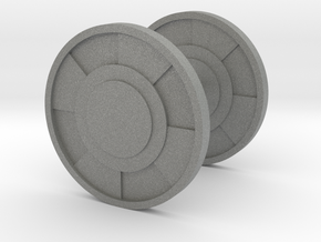 Round Cufflink in Gray PA12