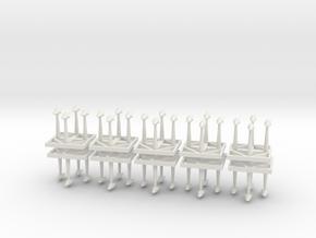 Tyranid Boarding Pods in White Natural Versatile Plastic