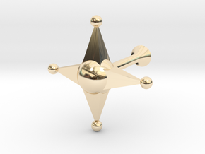 Star Cufflink in 14k Gold Plated Brass