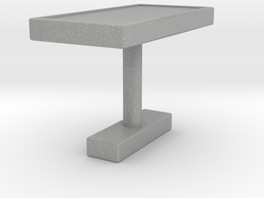 Rectangle Cufflink in Aluminum