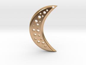 Moon Earring in Polished Bronze