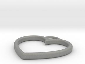 Heart Necklace in Gray Professional Plastic