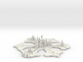 Atlantis 35h 2 in White Natural Versatile Plastic