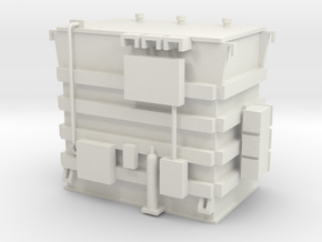 'HO Scale' - Transformer in White Natural Versatile Plastic
