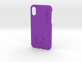 iPhone XS Garmin Mount Case in Purple Processed Versatile Plastic