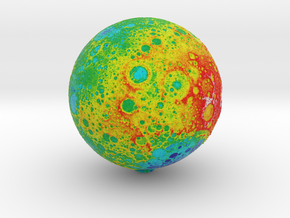 Topographic Moon (120mm) (S) in Natural Full Color Sandstone