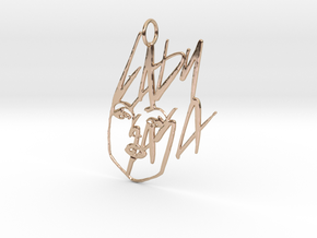 Lady Gaga Pendant - Exclusive Jewellery in 14k Rose Gold Plated Brass