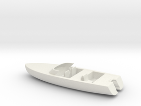 Printle Thing Speed Boat w/o Motor - 1/24 in White Natural Versatile Plastic