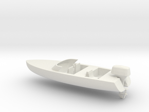 Printle Thing Speed Boat - 1/24 in White Natural Versatile Plastic