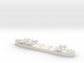 landing ship tank MK2 LST 1/1200 2 in White Natural Versatile Plastic