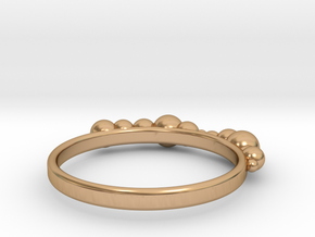 Balled Ring in Polished Bronze