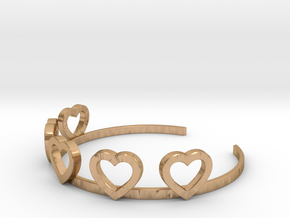 Heart Bracelet in Polished Bronze