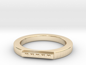 5 Heart Ring in 14k Gold Plated Brass