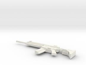 1:12 Heckler & Koch 416 in White Natural Versatile Plastic: 1:12