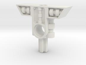 Short Crossguard 1 in White Natural Versatile Plastic