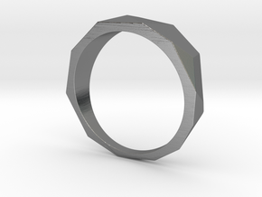 Low Poly Ring in Polished Silver: 8 / 56.75