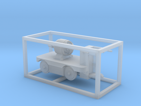 E-Karren Flachwagen E-Motor - 1:120 TT in Smooth Fine Detail Plastic