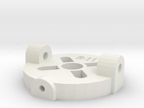 [B11] Swivel Motor Mount Plate in White Natural Versatile Plastic