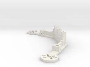 [Q3] Dual Motor Mount Bracket  in White Natural Versatile Plastic
