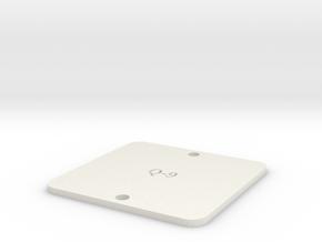 [Q9] Flight Control Mount Plate in White Natural Versatile Plastic
