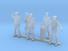HO Scale Sailors in Smooth Fine Detail Plastic