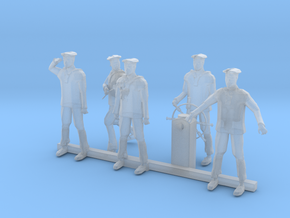 S Scale Sailors in Smooth Fine Detail Plastic
