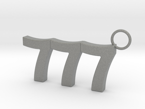 777 Keychain in Gray PA12