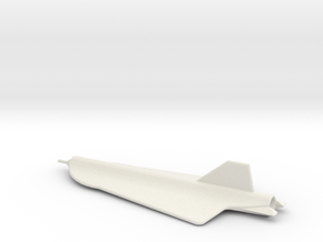 1/200 Scale D-21 Drone in White Natural Versatile Plastic