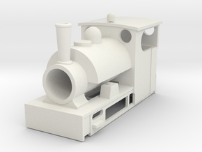 Albert the Mid Sodor Railway Engine (OO9) in White Natural Versatile Plastic