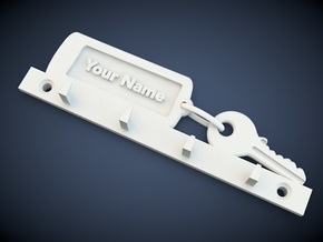 Key holder in White Natural Versatile Plastic