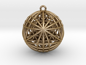 """Tantric Star of Awesomeness Pendant 2""""  in Polished Gold Steel"""